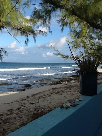 The Villas of Salt Cay: View from patio onto beach