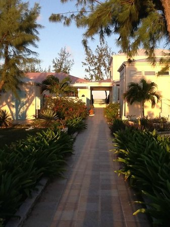 The Villas of Salt Cay : View from entrace gate of grounds