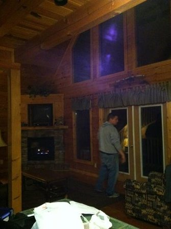 Mountain Shadows Log Home Resort:                   Living room
