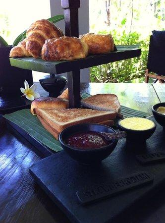 The Lombok Lodge:                   danish / bread platter served during breakfast