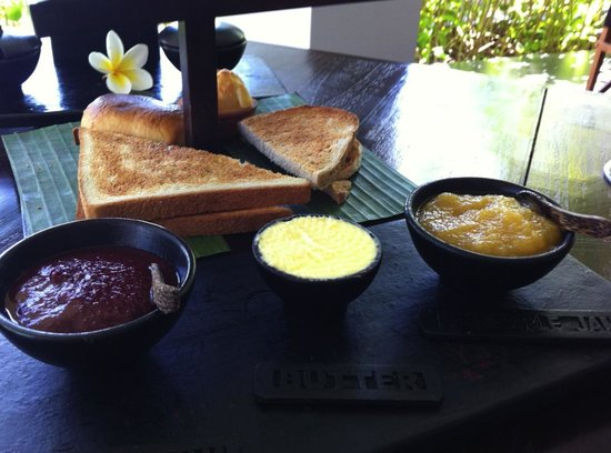 The Lombok Lodge:                   homemade jams and butter