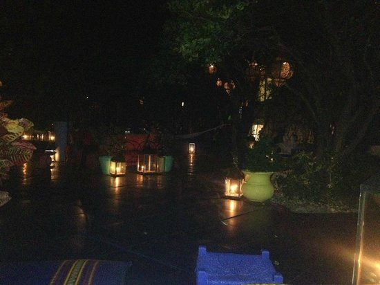 Shore Club South Beach Hotel:                   Evening @ the hotel... enchanting.