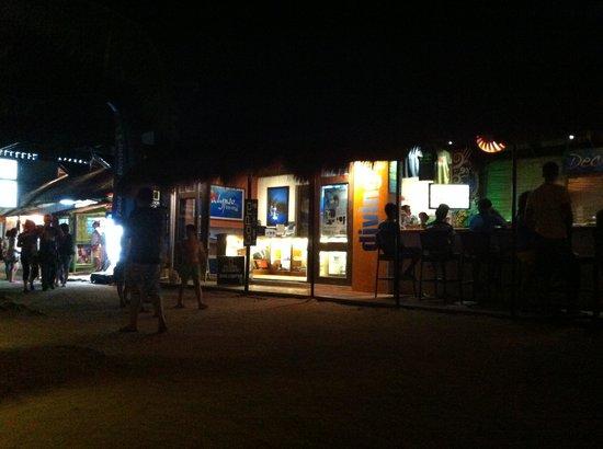 Calypso Diving School:                   calypso at night (front view)