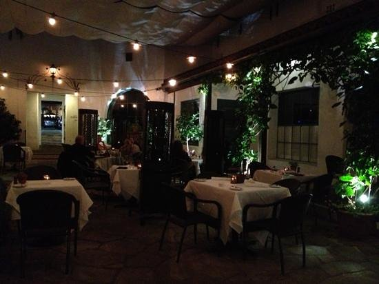 Wine Cask Restaurant:                   Outdoor courtyard