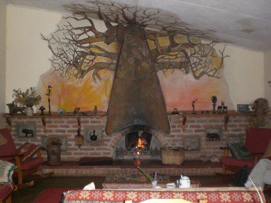 Luwawa Forest Lodge:                   Fireplace