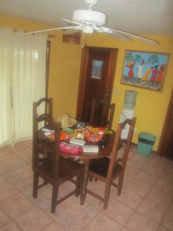 Bananarama Beach and Dive Resort:                   Our kitchen, fully capable to cook, but the food was so good, why bother.  Jus