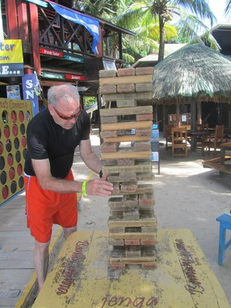 Bananarama Beach and Dive Resort:                   Giant Jenga, fun when everyone claps and cheers...
