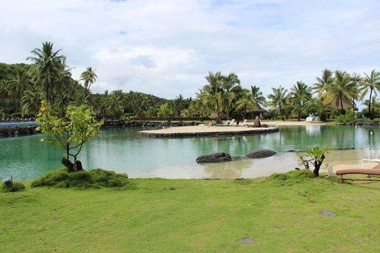 อินเตอร์คอนทิเน็นทอล ตาฮิติ รีสอร์ท:                                     lagoon