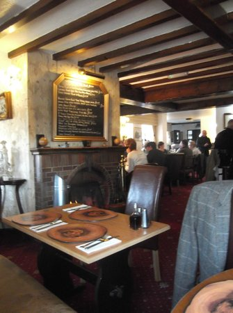 Balterley, UK:                   The specials board and fire