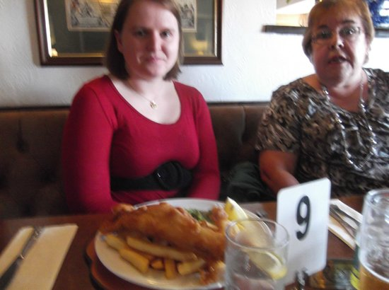 Broughton Arms:                   Cod and chips