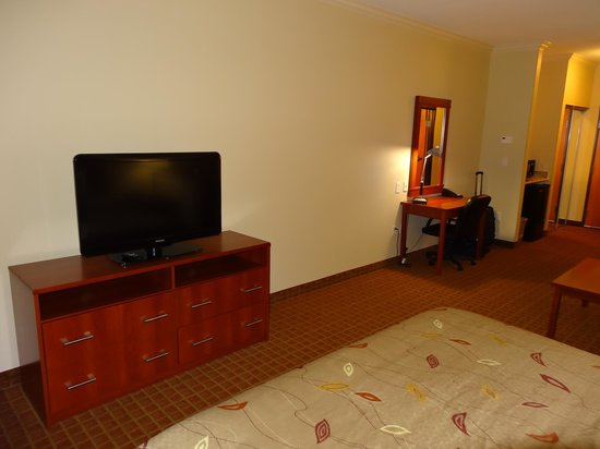 Ramada College Station :                   t.v. and desk in our room.