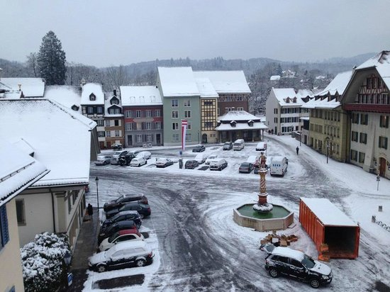 Hotel Zofingen:                   View from Room