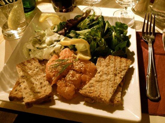Dame Tartine:                   Tartare de saumon