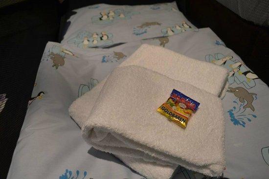 Oversum - Vital Resort Winterberg: Children bed all ready for our little Monkey