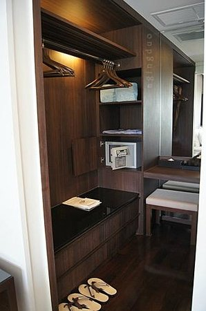 Cape Panwa Hotel:                                     plenty of storage; door can be closed