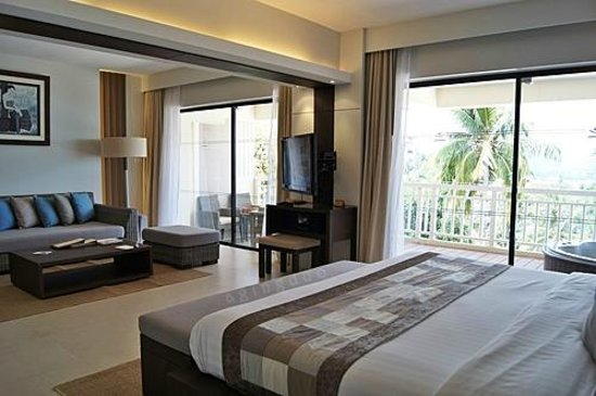 Cape Panwa Hotel:                                     wide angle of commodious Cape Suite
