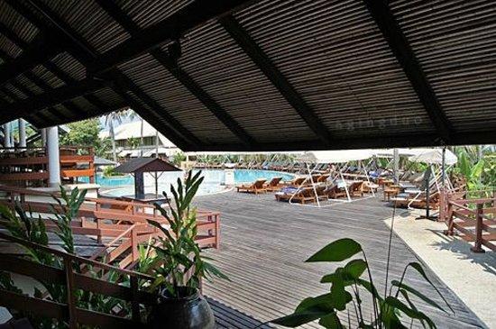 Cape Panwa Hotel:                                     main swimming pool, C Bldg