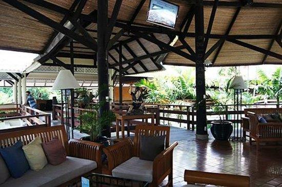 Cape Panwa Hotel:                                     Round House: lobby/recreational area