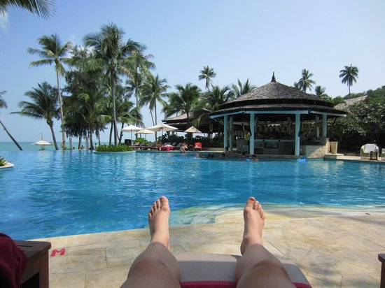 Melati Beach Resort & Spa:                   poolside