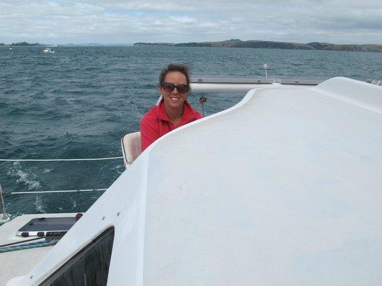Island Sailing onboard Te Aura - Waiheke Island:                   driving