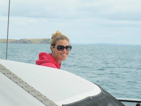 Island Sailing onboard Te Aura - Waiheke Island:                   relaxing