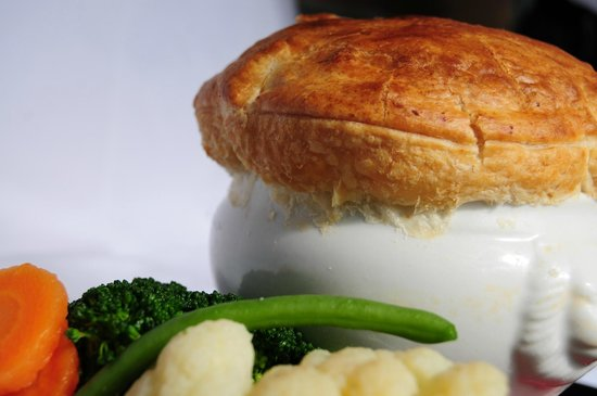 homemade locally reared chicken pie
