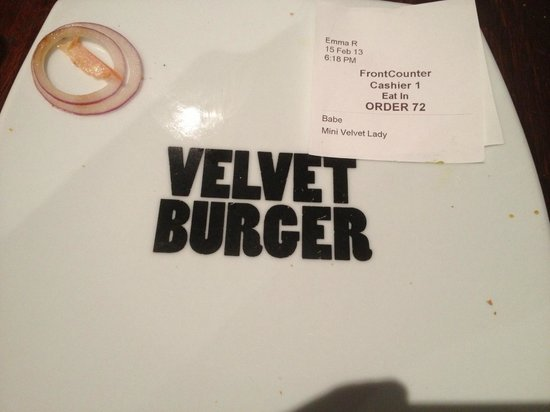 "Velvet Burger:                                     Too delicious, no time for a ""before"" photo!"