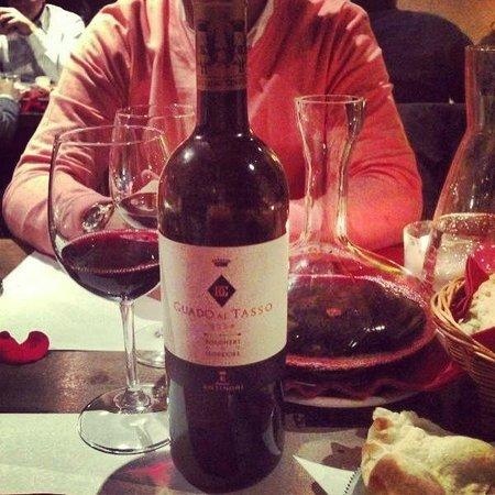 Vineria Il Chianti:                   şarap seçimi
