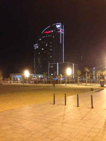 W Barcelona:                   Looks stunning on a night