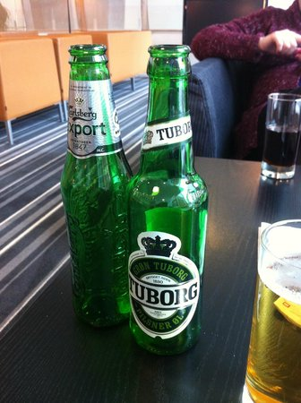 Crowne Plaza Copenhagen Towers:                   Local beers
