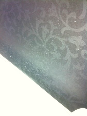 Trianon Hotel:                   More stains on headboard