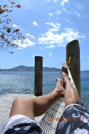 Balai Resort Anilao:                   Vie from the deck