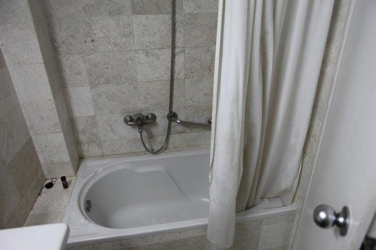 Airotel Alexandros:                   Dirty Bathroom curtain