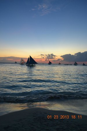 Seabird International Resort:                                     Sunset in Boracay:  amazing!