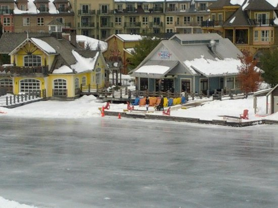 Westin Trillium House Blue Mountain: Wild Wings Restaurant across from hotel and pond.