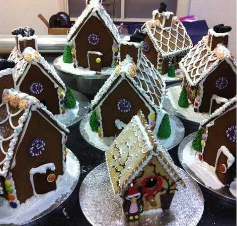 Blueberry Hill Patisserie:                   A whole village of gingerbread houses!