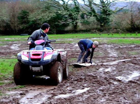 Eclipse Ireland Adventure and Equestrian Centre :                                     Mud surfing madness in mid winter!