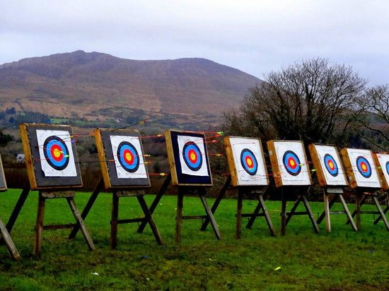 Eclipse Ireland Adventure and Equestrian Centre :                                     Archery with a view...even in winter!