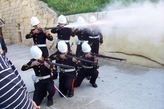 Fort Rinella:                                     Musket demonstration 2