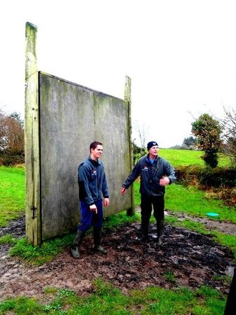 Eclipse Ireland Holiday Homes, Equestrian & Activity Centre:                                     The wall as aprt of assault course