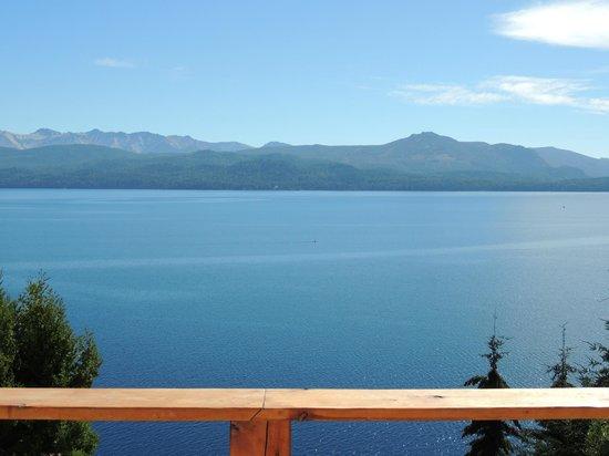 Patagonia Vista:                   Vista desde el dormitorio superior