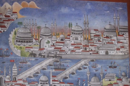 Efendi Hotel:                   Original wall mural discovered and restored.