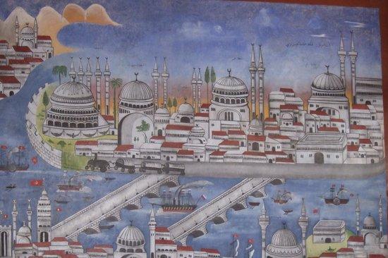 Efendi Hotel :                   Original wall mural discovered and restored.