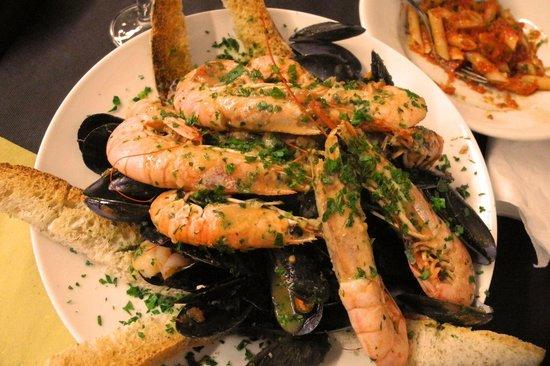 Montecarlo, Italy:                                     Mixed Shellfish Platter