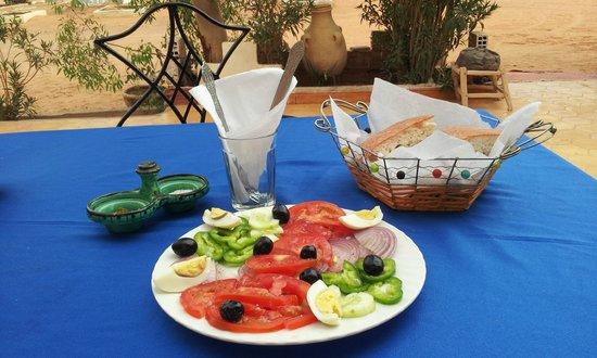 Auberge Les Pyramides:                   il pranzo