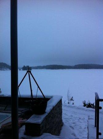 Roemskog Spa & Resort:                   utsikten fra varmebadet ute