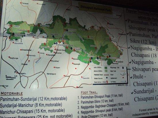 Shivapuri Nagarjun National Park :                   Map of National Park