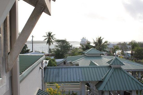 Yap Pacific Dive Resort:                   View over restaurants and bar
