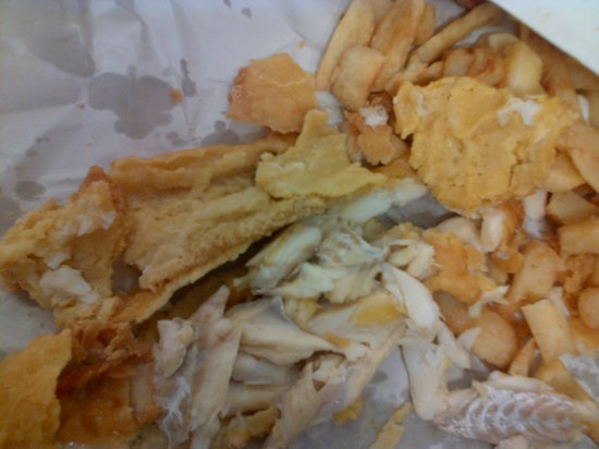 The Chippy:                                     absolutley discusting!! refused to eat it as was that soggy