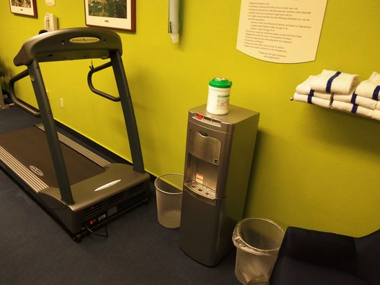 Fairfield Inn & Suites Traverse City: why are there two trashcans in exercise room?